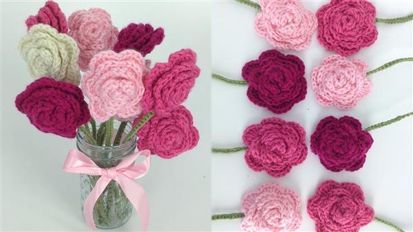 flores de barbante