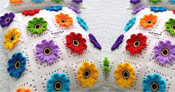 flores criativas em barbante