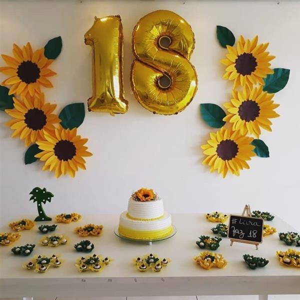 Decoraç u00e3o de girassol como fazer e muitas ideias Artesanato Passo a Passo! -> Decoracao De Girassol Para Aniversario