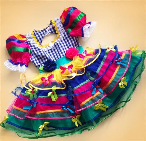 Vestido De Festa Junina Infantil E Adulto Artesanato