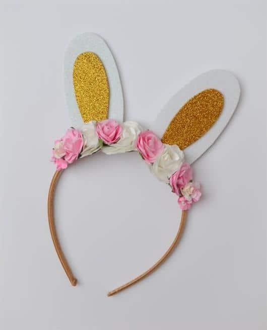 tiara de flores coelhinho
