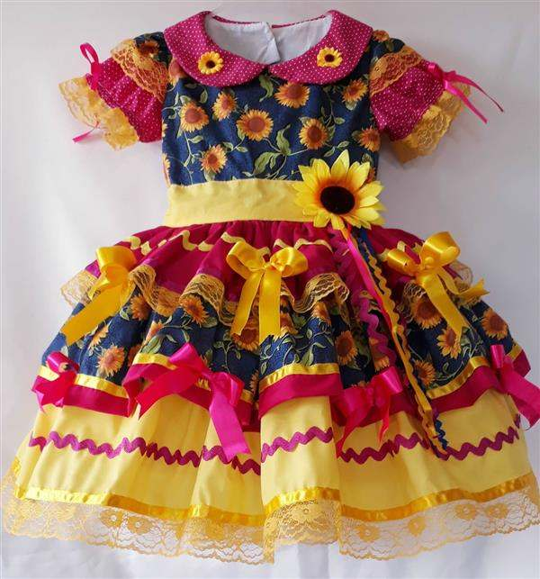 vestido-junino-amarelo-e-rosa-girassol-vestido-infantil