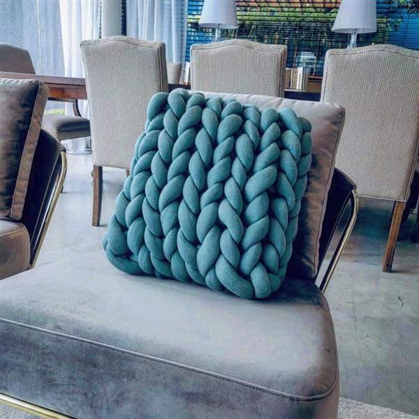 almofada de trico gigantes