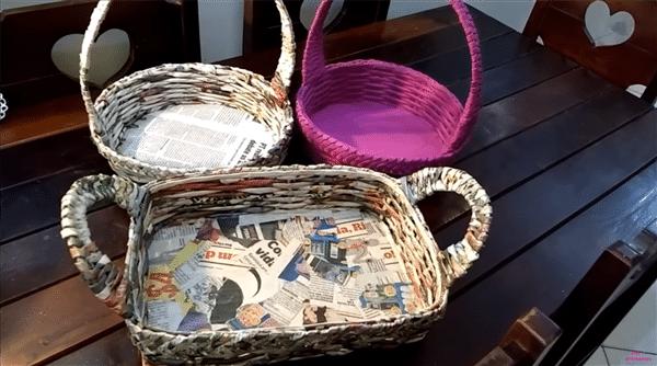 cesta de jornal
