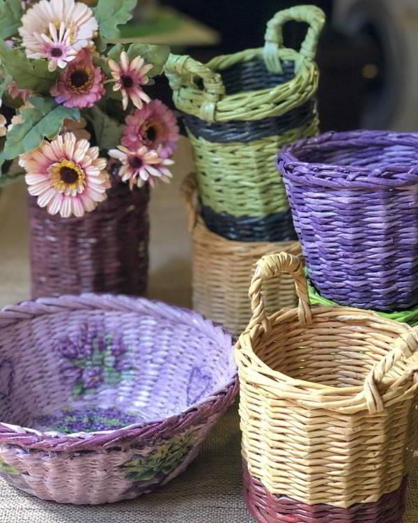 cestas de jornal