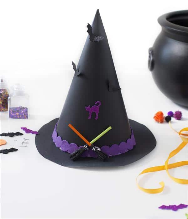 chapeu de bruxa decorado