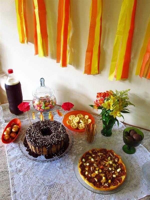 comidas festa surpresa