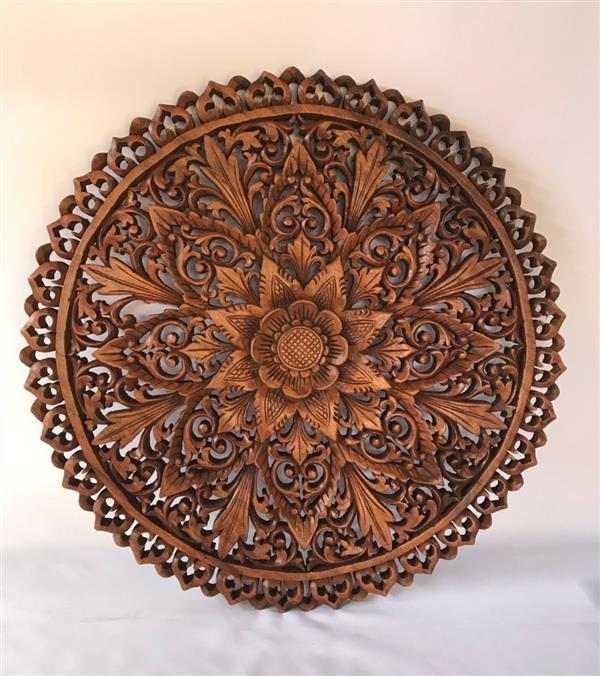 mandala artesanal na madeira
