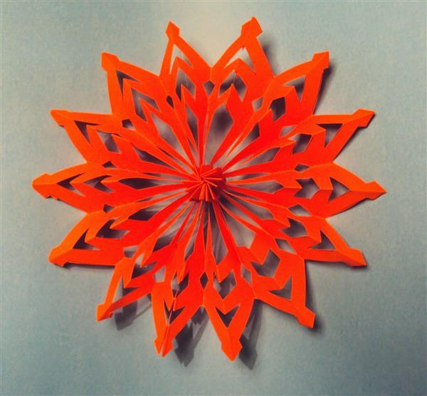 mandala de papel colorido