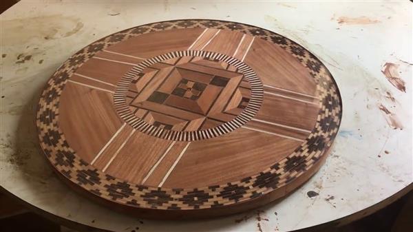 mandala na madeira