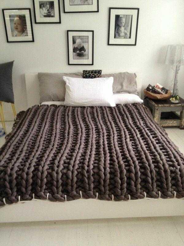 manta de cama trico gigante