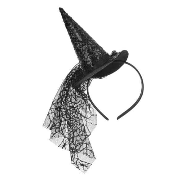 chapeu de bruxa com veu