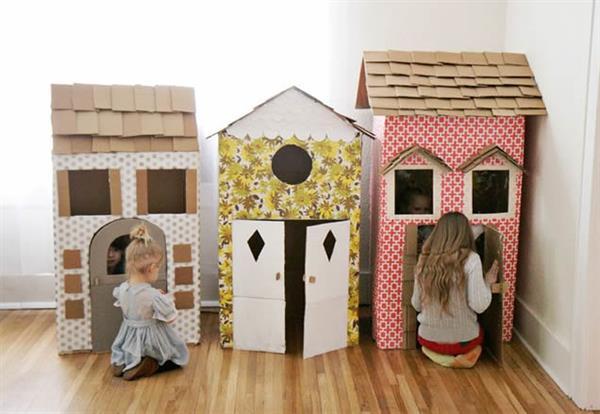 vila-de-casas-de-papelão-modelo