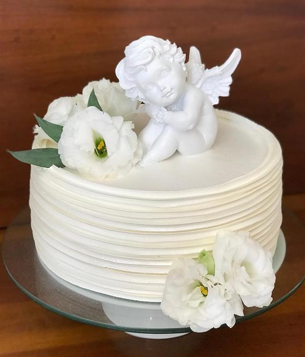 bolo batizado anjinho