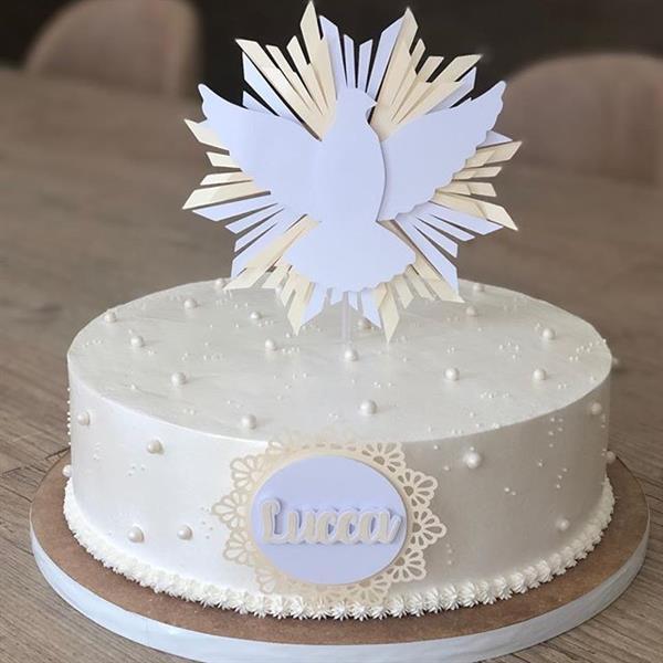 bolo perolado batizado
