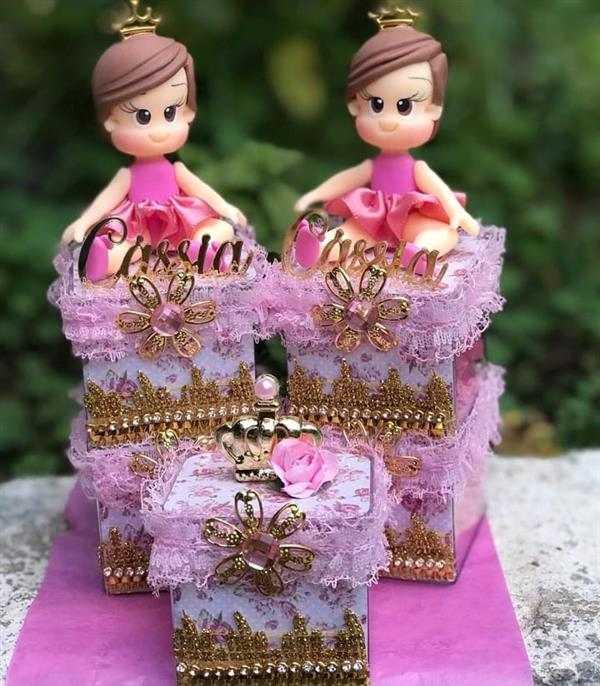 caixa acrilica decorada