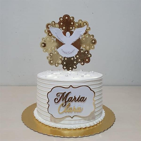 bolo espirito santo dourado
