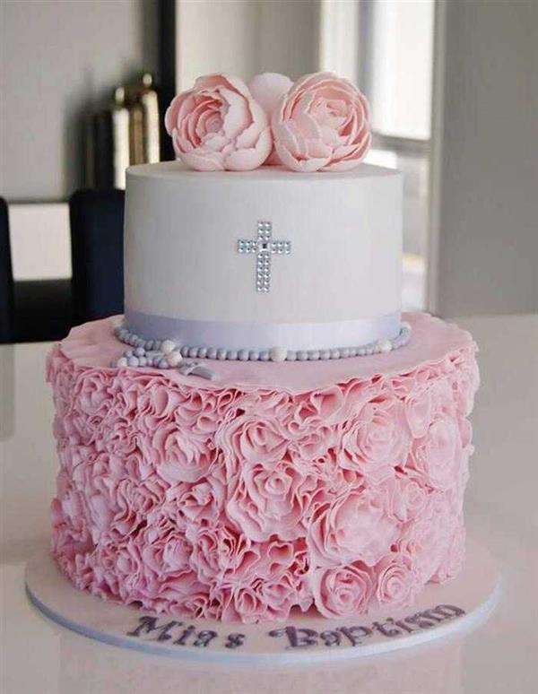 bolo-de-batizado-rosa-com-flores