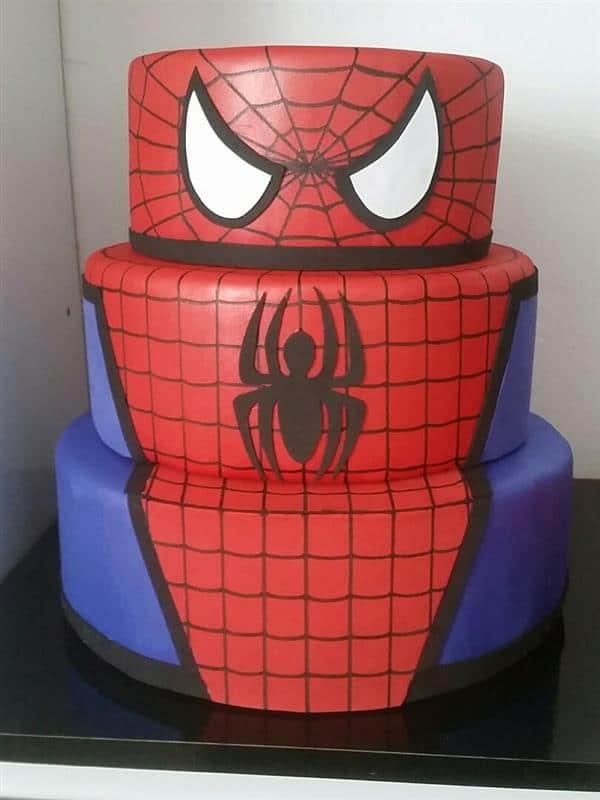bolo-fake-homem-aranha biscuit