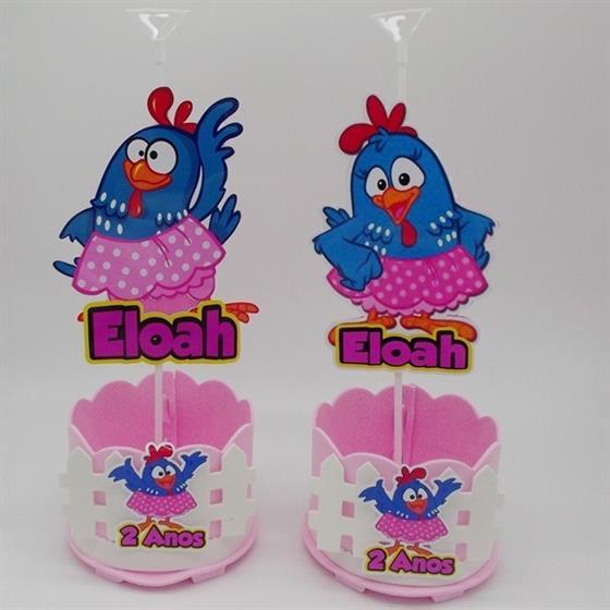 centro-de-mesa-galinha-pintadinha-rosa