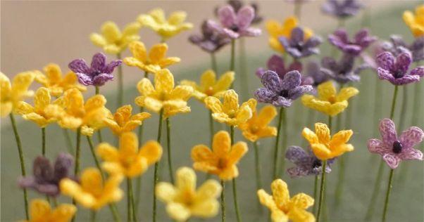 flroes amarelas de croche