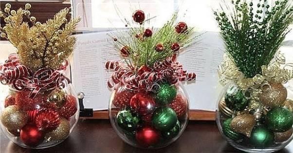 ideias simples de enfeites natalinos