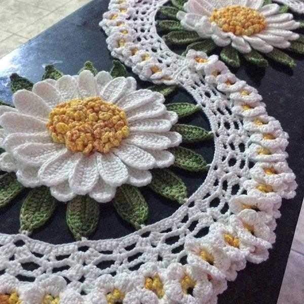 flor-de-croche-caminho de mesa