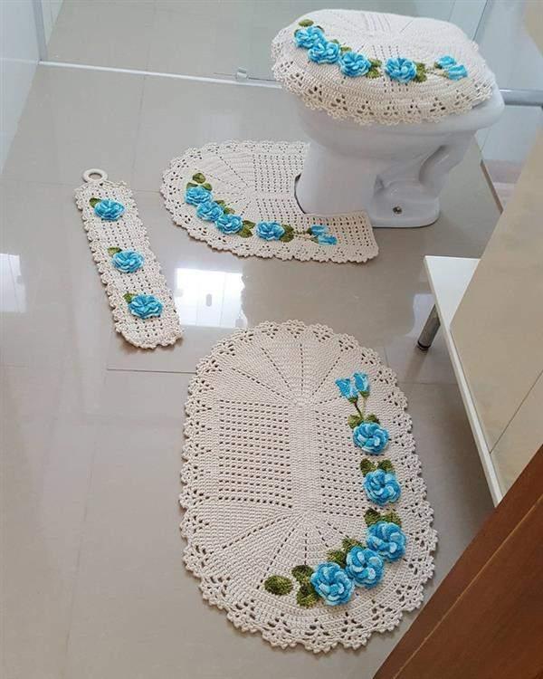 flor-de-croche-jogo de banheiro