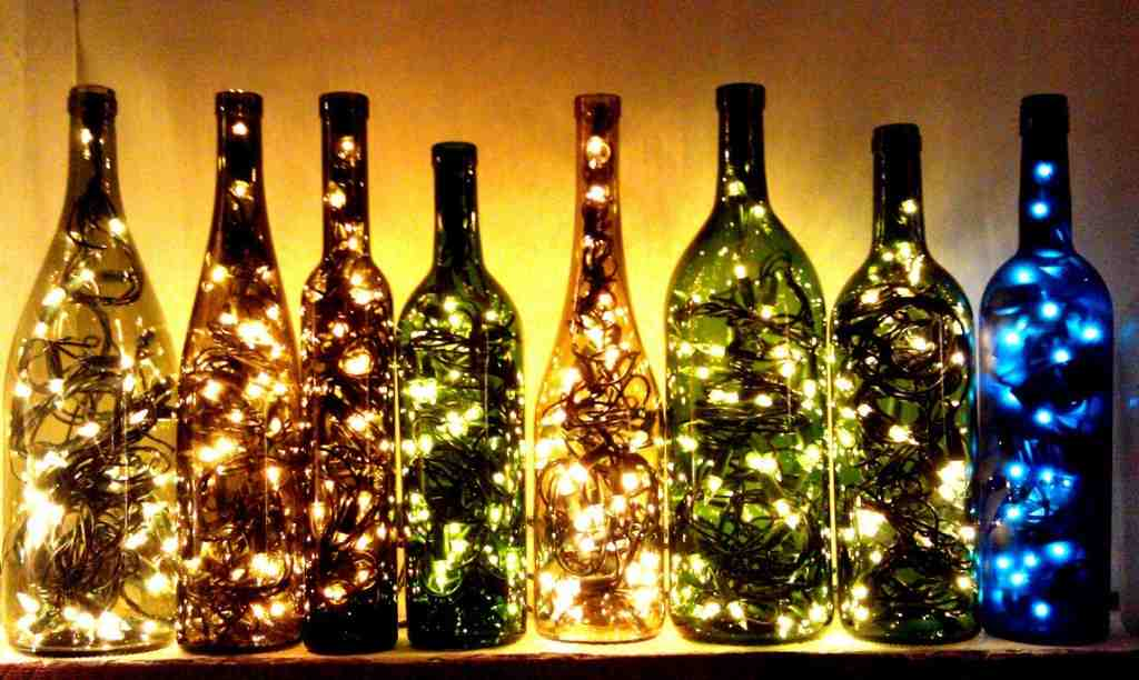 garrafas luminaria