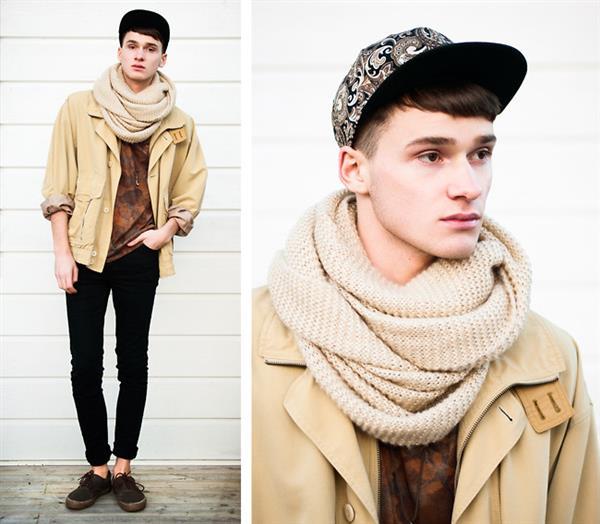 gola de trico para homem