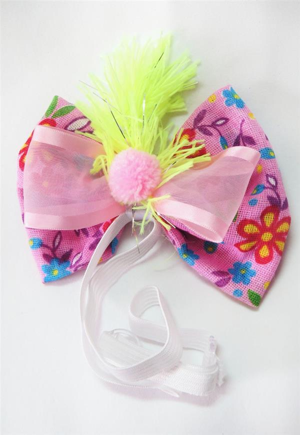 tiara pet de tecido floral