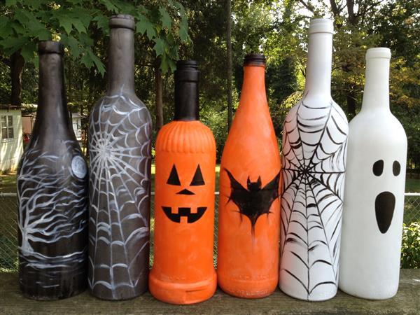 garrafa de vidro halloween
