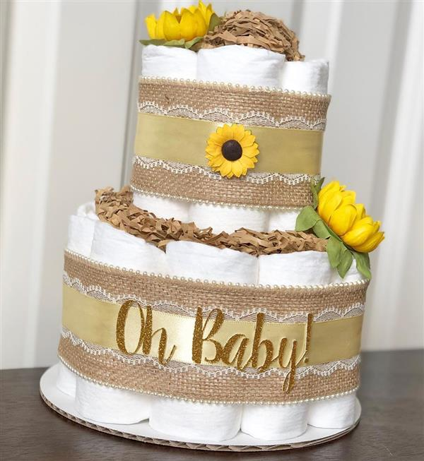 bolo de girassol cha de bebe