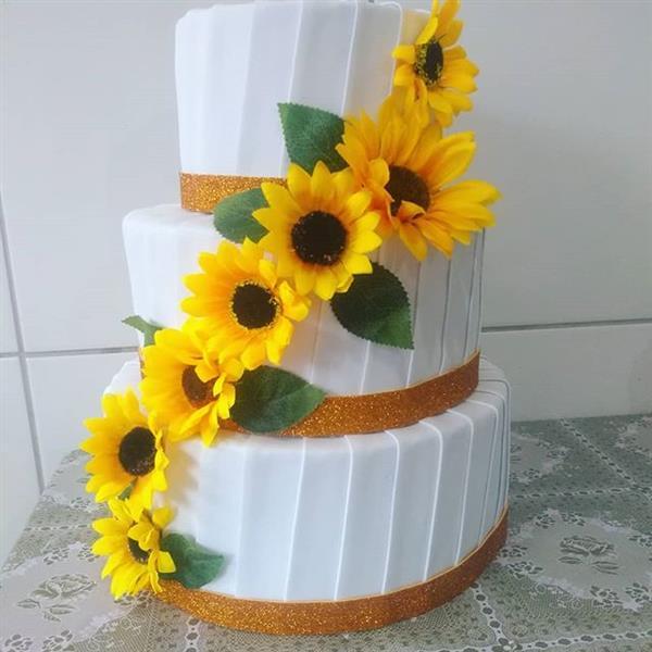 bolo de girassol