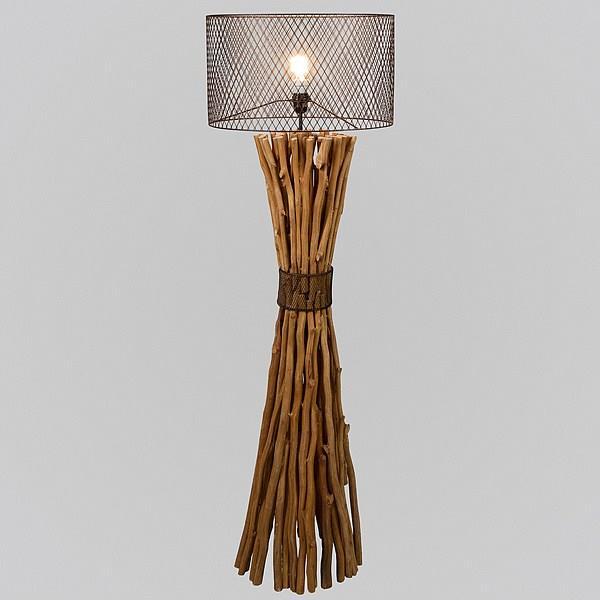 luminarias com troncos de madeira