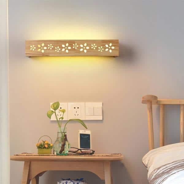 luminaria retangular de madeira