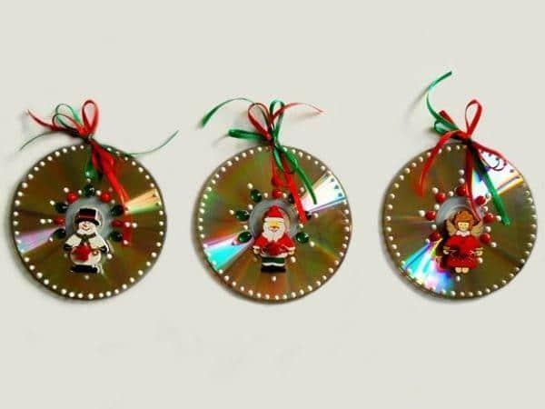 Decoracao-de-Natal-com-Reciclagem-de-CD
