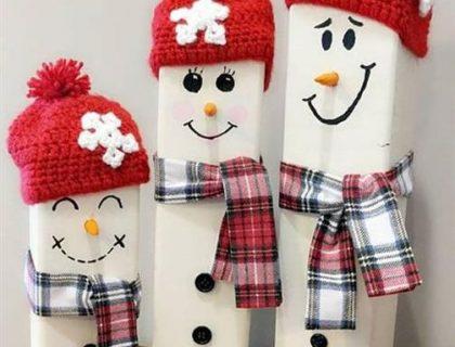 boneco de neve com caixa