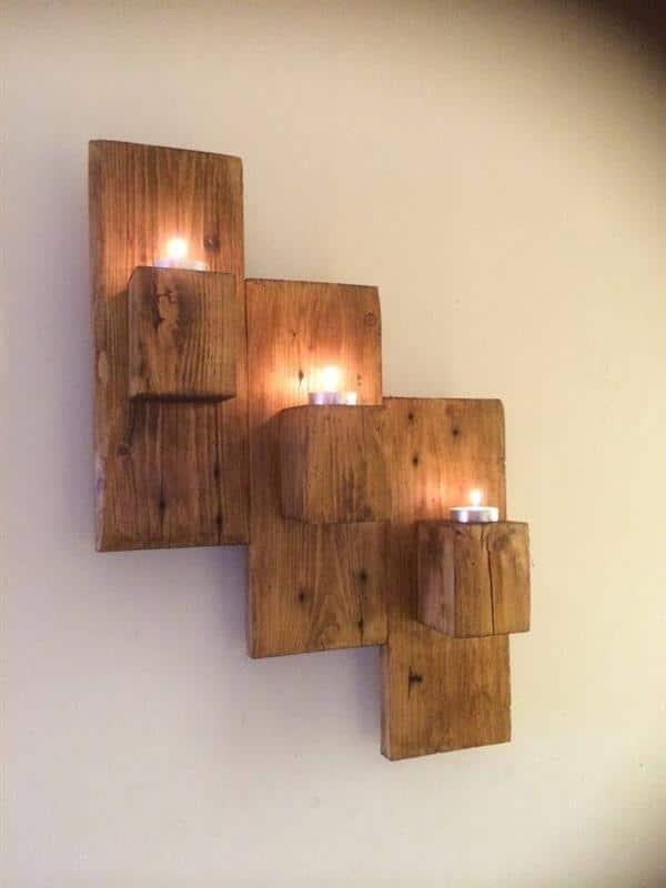 luminária madeira