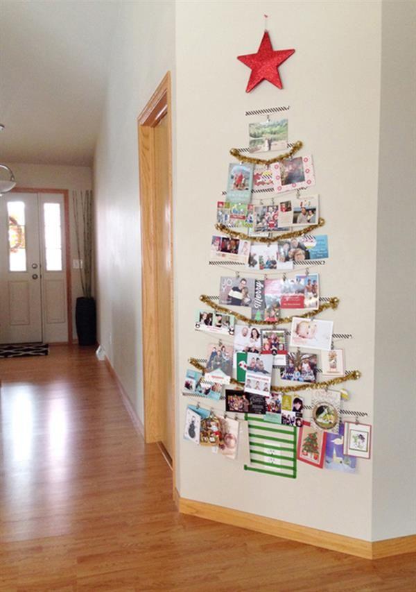 arvore de parede com fotos