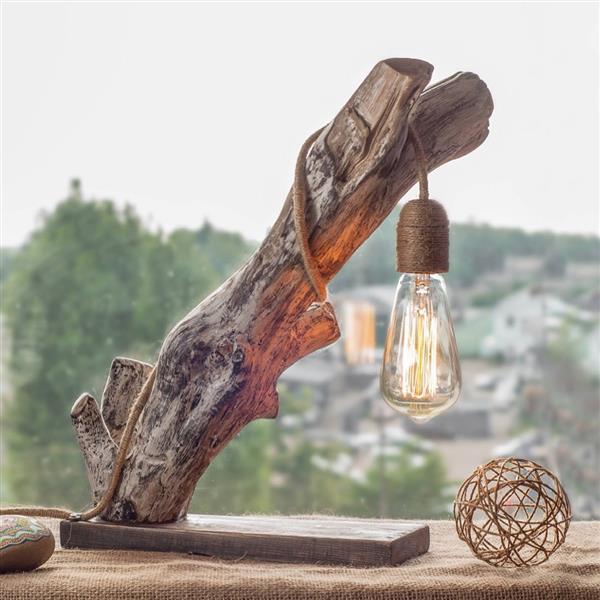 luminaria-de-madeira-e lampada