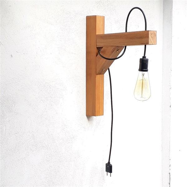 luminaria madeira simples