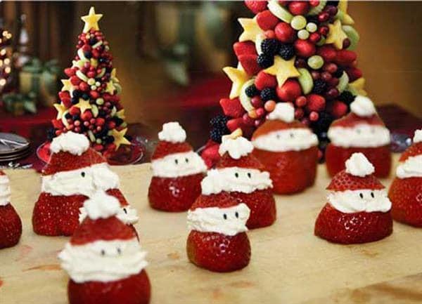 Árvore-de-Natal-de-frutas-Papai-Noel