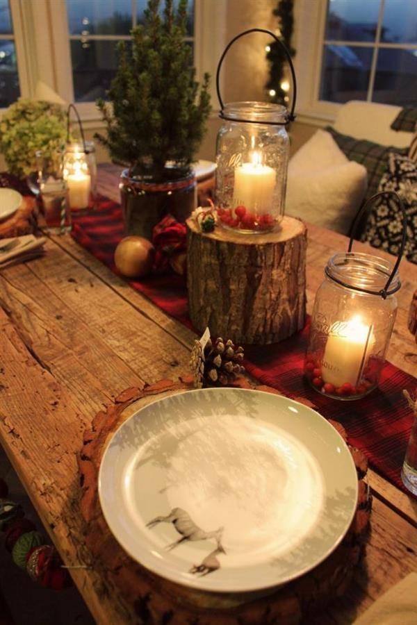 Decoração-Rústica-para-Mesa-de-Natal