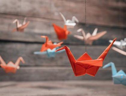 Decoração-com-Origami-tsuru