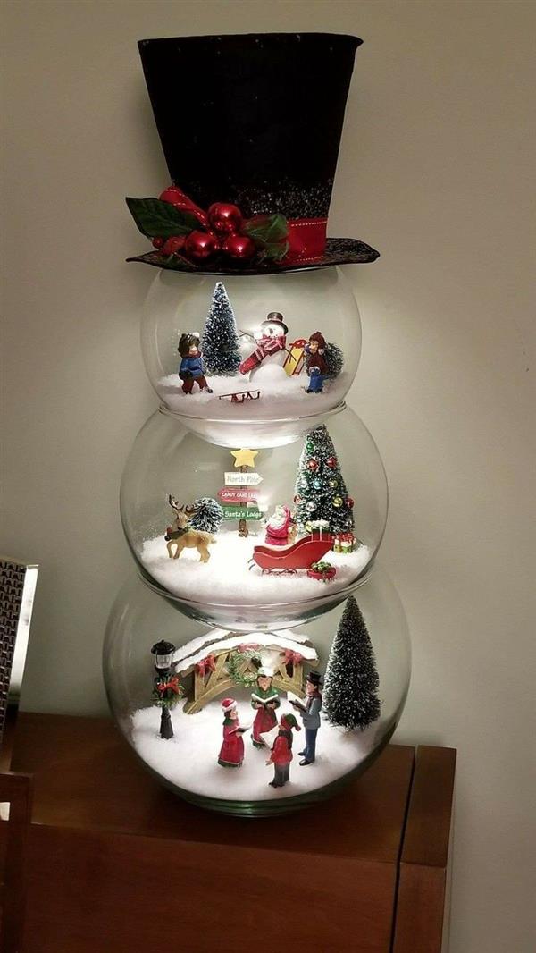 artesanato de natal com vidro
