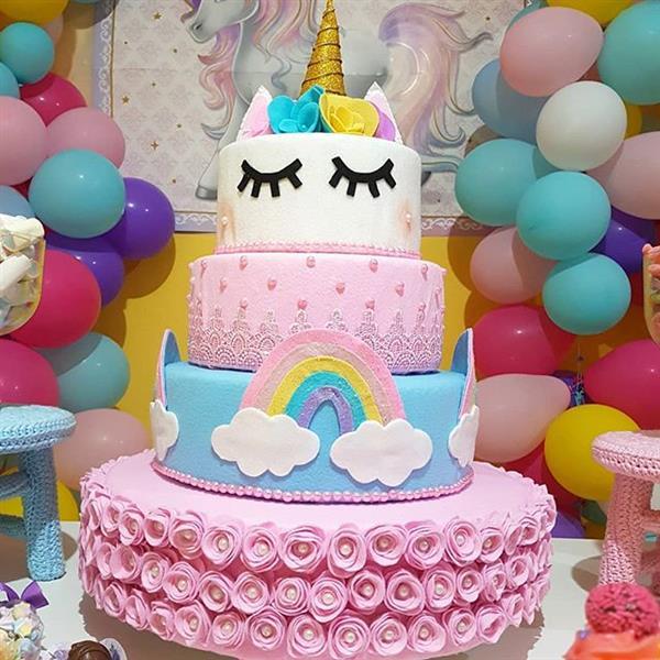 bolo de unicornio de tecido