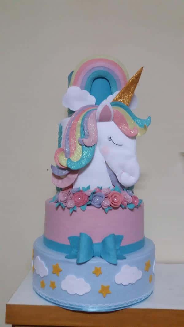 bolo-fake-unicornio-festa-infantil-unicornio
