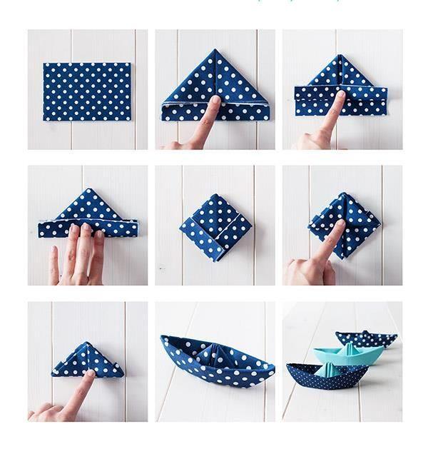 como fazer barquinho de papel
