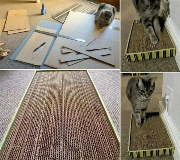 como fazer um arranhador com papelão
